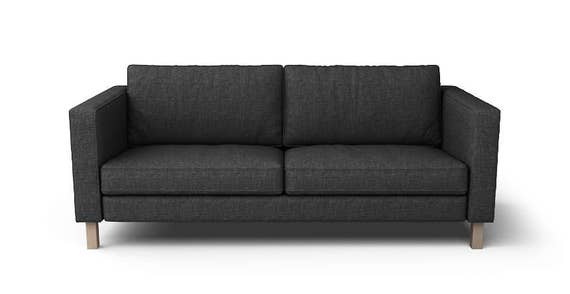IKEA Karlstad 3 Seater SLIPCOVER ONLY in Nomad Black fabric