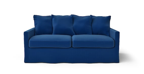 IKEA Harnosand 3 Seater Sofa SLIPCOVER ONLY in Rouge Indigo fabric