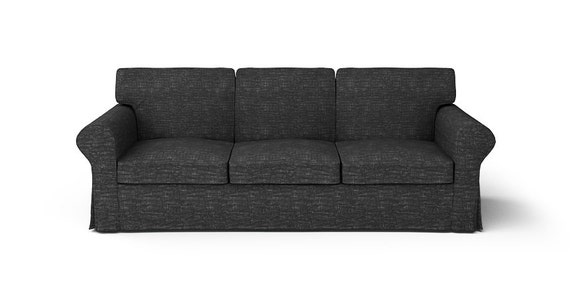 ikea ektorp 3 sitzer sofa slipcover nur in nomad schwarz. Black Bedroom Furniture Sets. Home Design Ideas