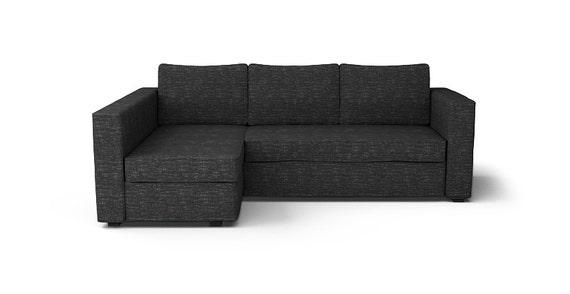Custom Ikea Manstad Sofa Bed Cover Snug Fit In Nomad Black Etsy