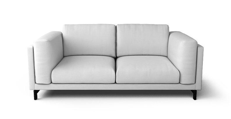 Superb Ikea Nockeby 2 Seater Sofa Slipcover Only In Gaia White Fabric Interior Design Ideas Lukepblogthenellocom