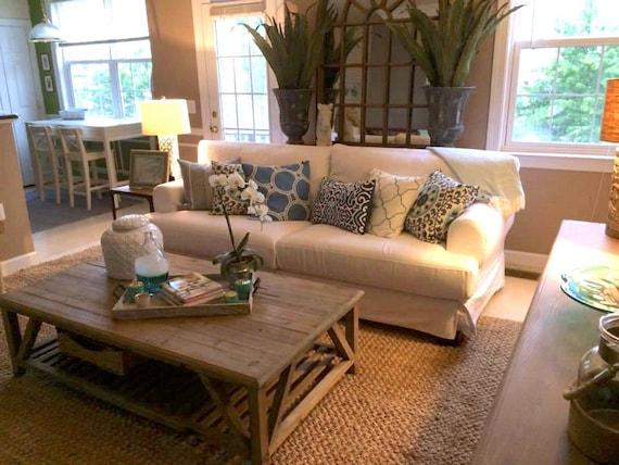 Ordinaire Custom IKEA Hovas Sofa Slipcover 3 Seater In Gaia White