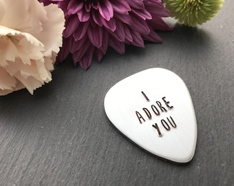Personalised Guitar Pick - Valentines Gift for Him - Personalised Valentines Gift - Guitar Plectrum - Customised Guitar Pick -