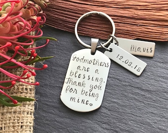 Personalised Godmother Gift - Godmother Gift - Baptism Gift - Christening Gift - Thank You Gift - Godparent Gift - Gift for Godparents