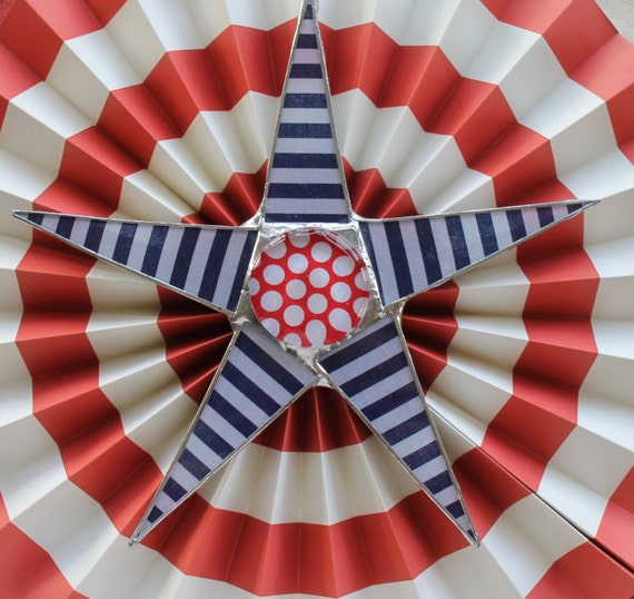 Honor Star- 9.5 inch lacquered fabric on glass star
