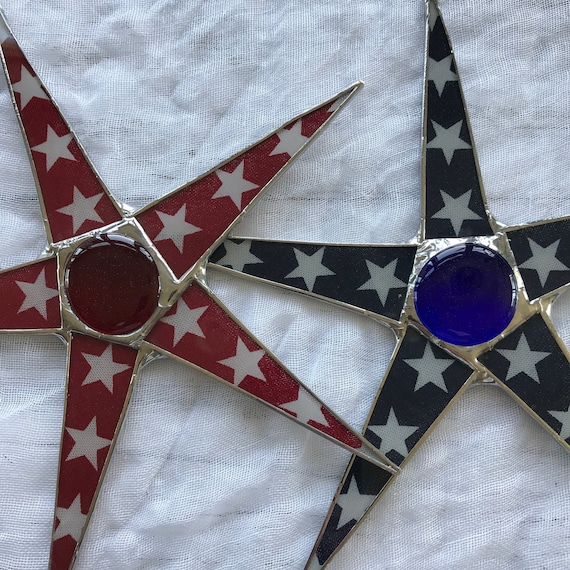 Star Spangled star- 9.5 inch patriotic star, 4th of July, Independence day decor, red white blue star