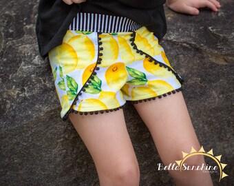 Tess Tulip Shorts, PDF Sewing Pattern, baby shorts pattern, shorts pattern, sewing pattern pdf, sewing patterns, baby sewing patterns,