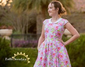 Alice, Pleated Dress, pattern, womens dress pdf, PDF Sewing Pattern, sewing pattern, dress pattern pdf, womens pdf pattern, sewing pdf