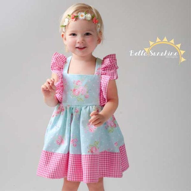 Juliet Flutter Dress Girls Dress Pattern Pdf Sewing Etsy