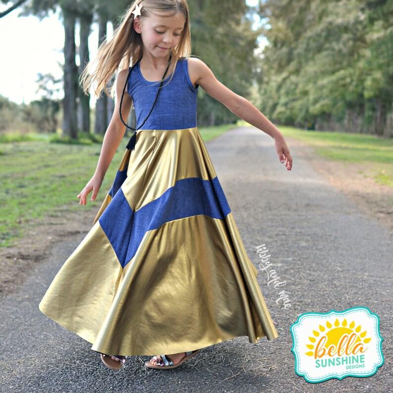 Emmaline girls dress patterns dress pattern PDF Sewing image 0