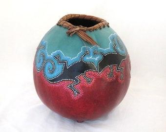 Lizards Gourd Bowl (1737)