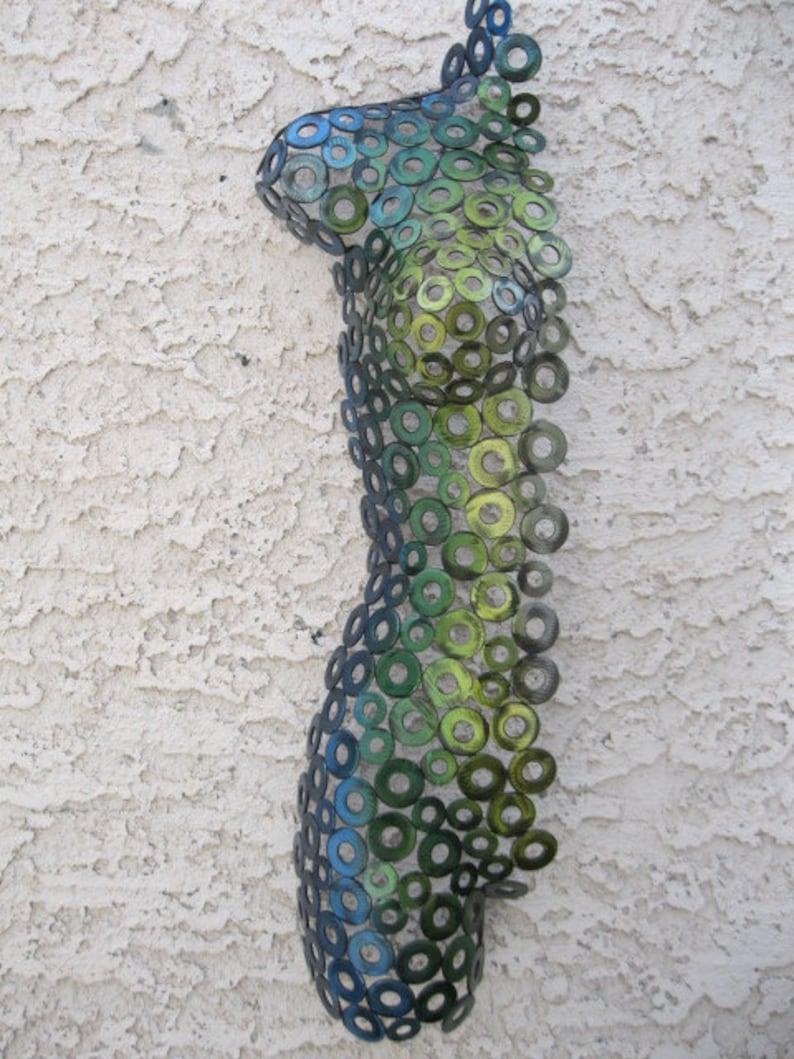 Abstract Metal art torso sculpture indooroutdoor garden by Holly Lentz