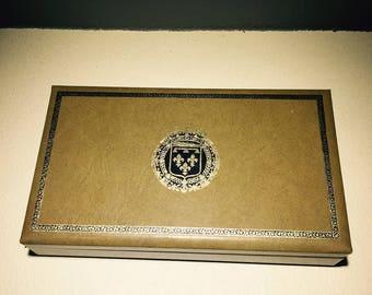 Swank Jewelry Box Men's Stash Box Vintage Vanity Box Organizer 1960's