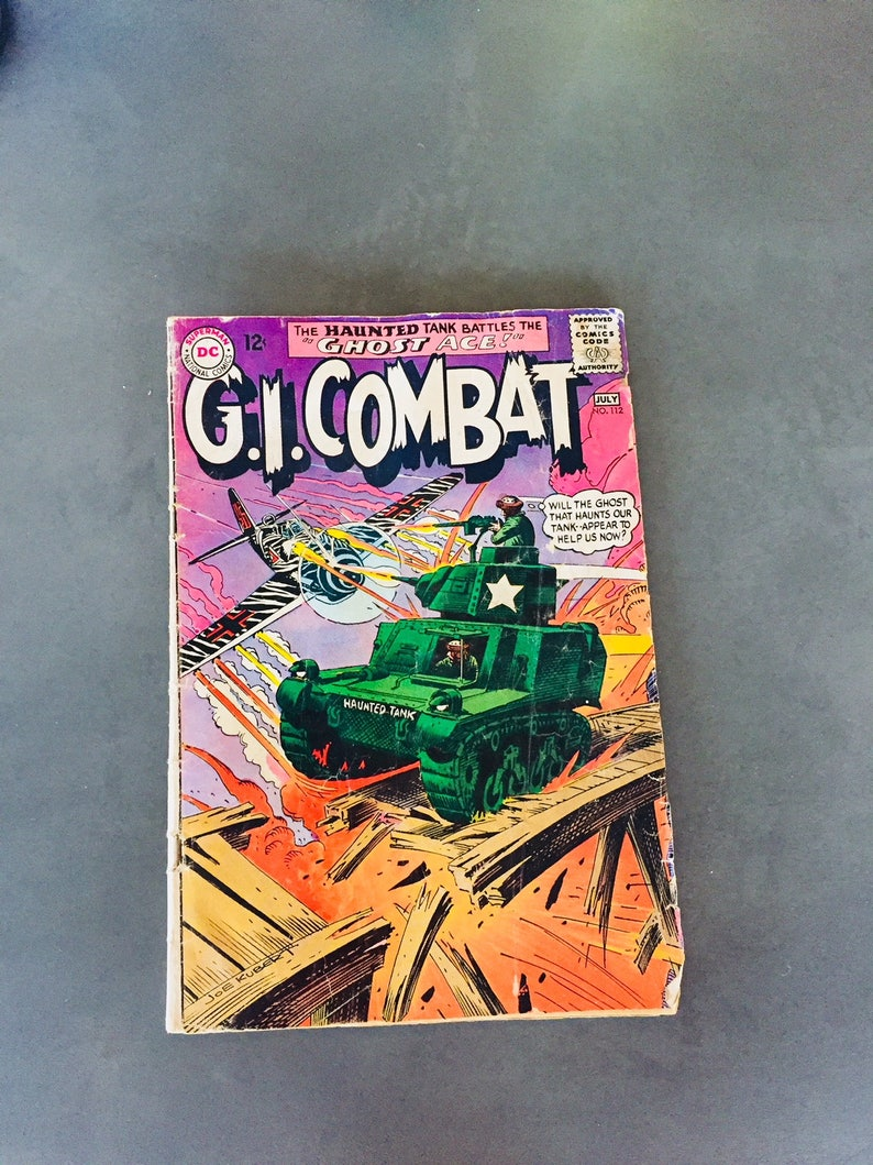 DC Comic Book G I  Combat #112 The Haunted Tank Vintage July 1965