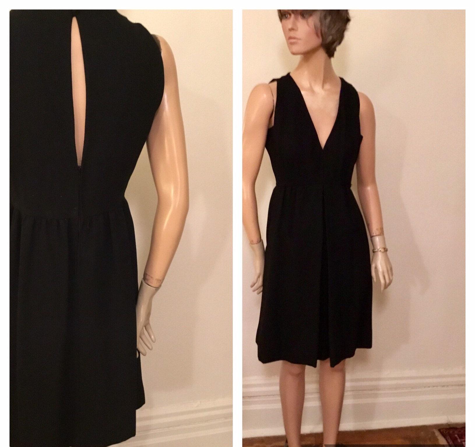 Little black wool jumper dress