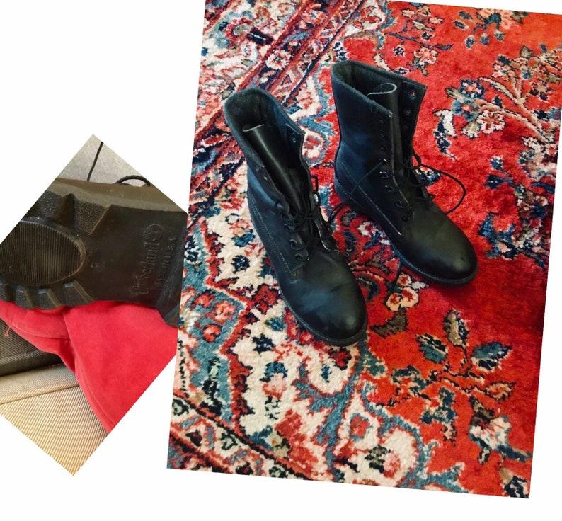 Malgastar orientación Saga  Botas de cuero negro con cordones Timberland para mujer Tamaño | Etsy