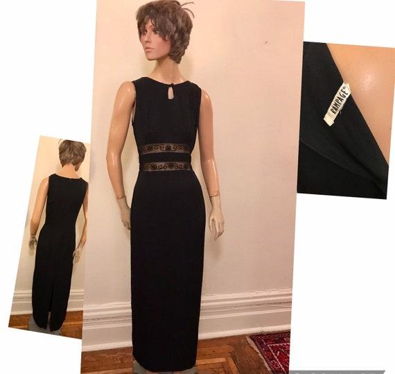 Vintage RAMPAGE 90's black formal gown with peekab