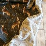 Wolf Woodland Baby Blanket - Minky Baby Blanket Boys - Toddler Nap Blanket - Baby Shower Gift - Woodland Baby Bedding - Wolf Nursery Decor