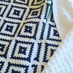 Black and White Aztec Baby Blanket - Minky Baby Blanket - Black White Baby Blanket - Southwest Blanket - Tribal Baby Blanket - Baby Gift
