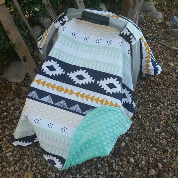 Baby Car Seat Canopy Cover Aztec