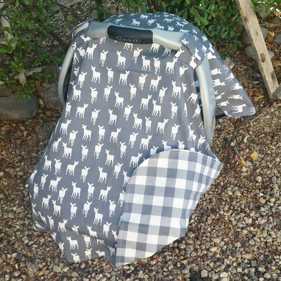 Woodland Baby Car Seat Canopy Cover Deer
