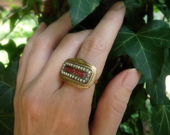 Antique Georgian Victorian Ouroboros Snake Mourning Ring, A Talisman for the Alchemist, offered by RusticGypsyCreations