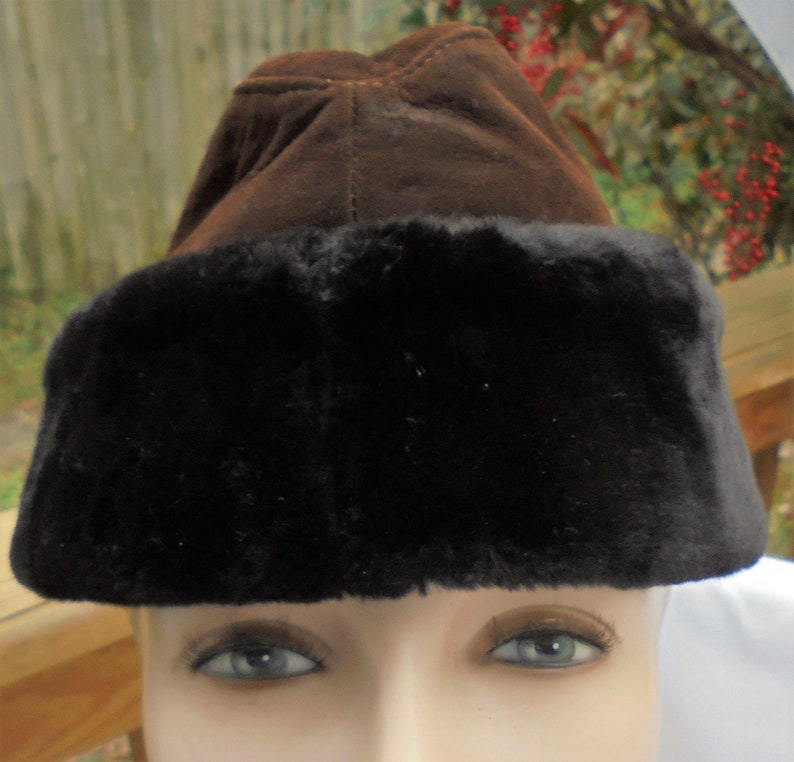 6bc4f34e6c906 Vintage Mouton winter hat warmest small boys all natural