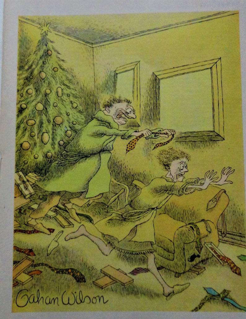 Gahan Wilson cartoons Playboy 1960s Thanksgiving Christmas set 4 perfect gruesome funny holiday