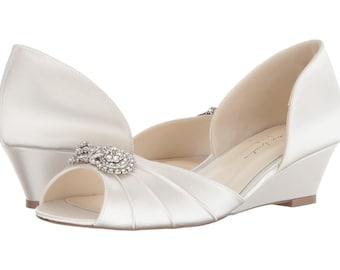 Wedding Wedge Shoe Wedge Wedding Shoes Wedges-Low Heels | Etsy