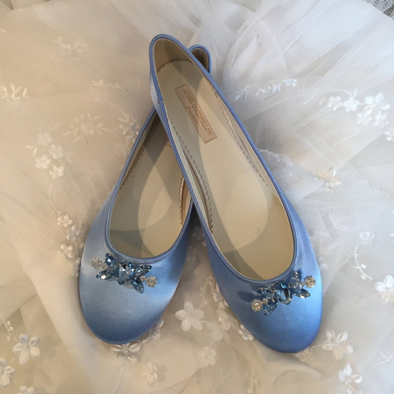 2c7946bd463 Wedding Ballet Slipper - Shoes - Wedding Shoes - Blue Wedding Shoe - Blue  Flats - Blue Wedding Flats - Choose From Over 150 Colors - Ballet