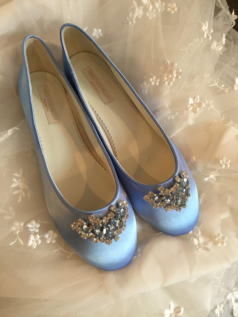 a227a3c25b0 Cinderella Shoes Wedding Shoes Blue Bridal Shoes Ballet