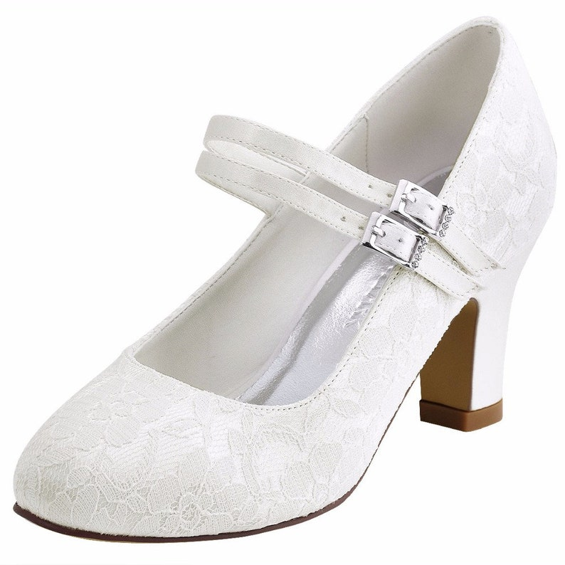 0b0eee23a051 Lace Wedding Shoe Lacy Mary Janes Vintage Style Wedding