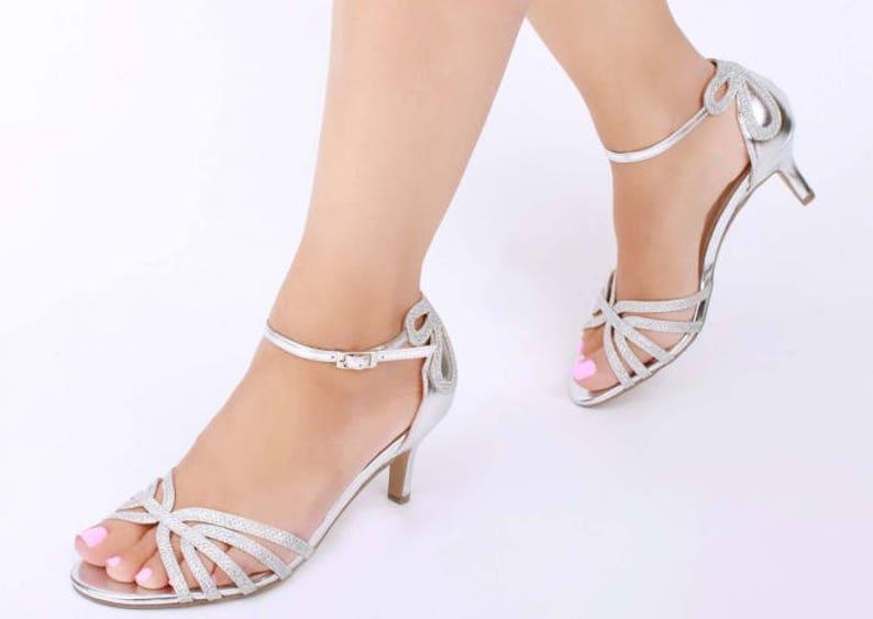 933e3ca036f4 Silver Sandals Wedding Shoes Bridal Shoes Silver Wedding