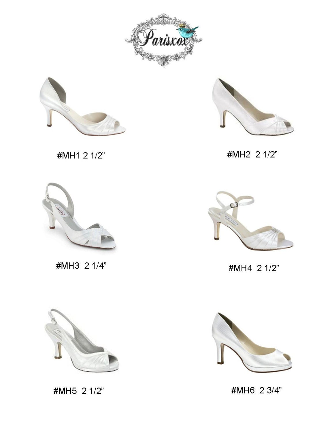 Wedding Shoes - Mid Heel - Medium Heel - Design Choose Your Own Shoes - Choose Design From Over 100 Colors - Choose Your Shoe Style - Custom Shoe Parisxox 0d7ca0