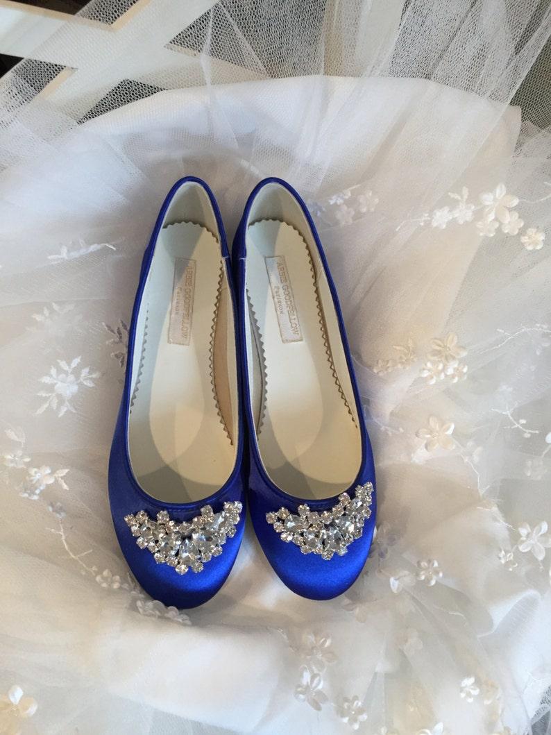 23dafa859a76 Royal Blue Wedding Shoes Ballet Flats Closed Toe Flats
