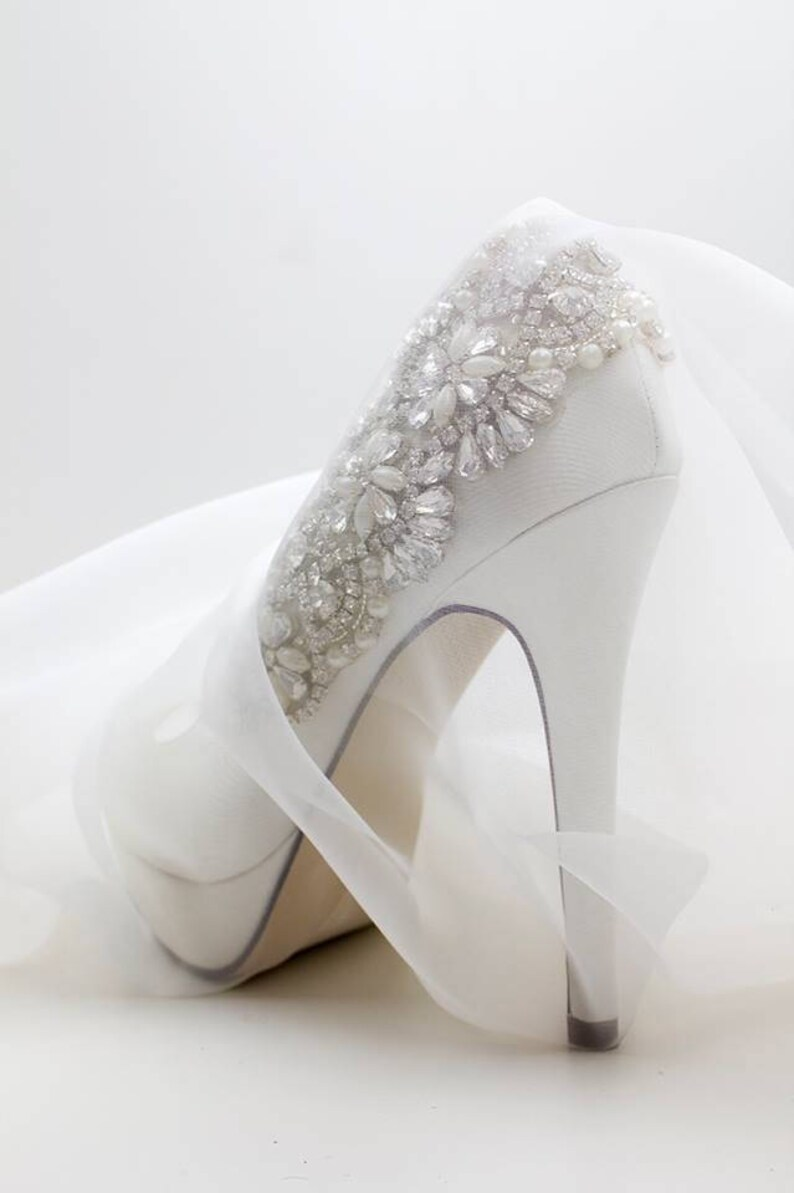 Wedding Shoes Bling Crystal And Pearl Embellished Bridal