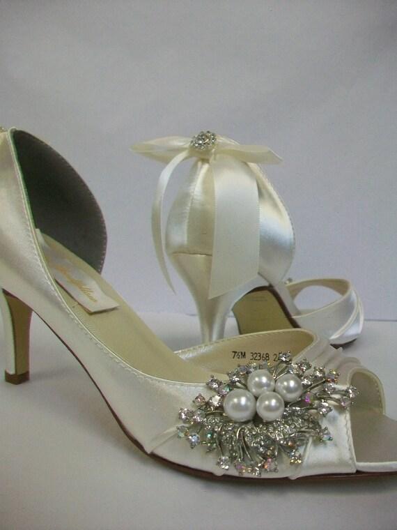 Wedding Shoes Custom Embellished Shoes Bespoke Shoes  9356b9322dfb