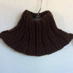 Brown Infinity Scarf High Neck Circle Neck Warmer Hand Knit Scarves On Sale