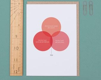 Love Venn Diagram Valentine's Day Card