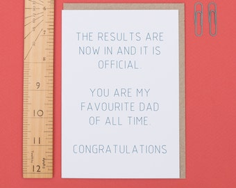 Your my favourite dad (Card)