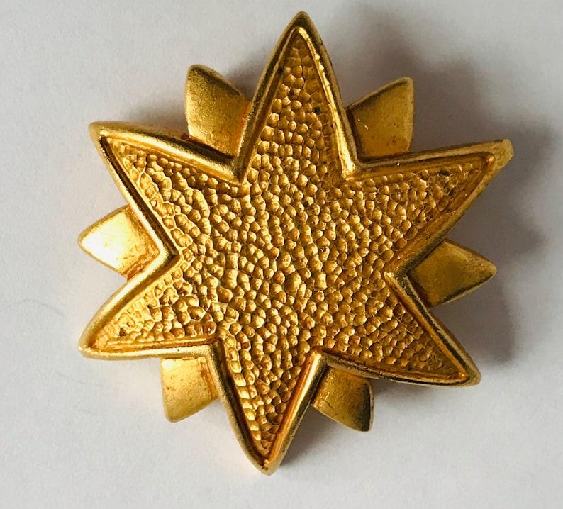 Dominique Aurientis Paris Gold Tone Star Starburst Brooch Pin