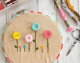 floral needle minder [CHOOSE YOUR COLOR!]