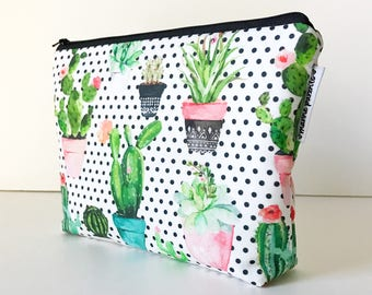 project bag -- dotted succulent