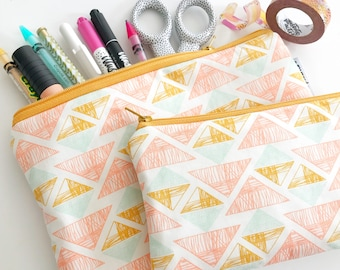 pencil pouch -- golden triangles