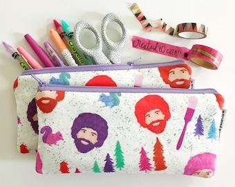 pencil pouch -- Mr. Ross in bright