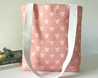 beauty school bows bible bag