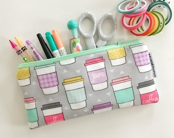 pencil pouch -- java in pastel