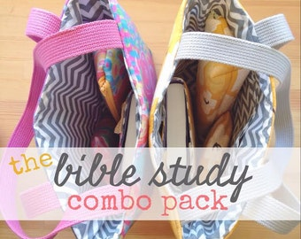 bible study combo pack [full set] -- choose your fabric print!