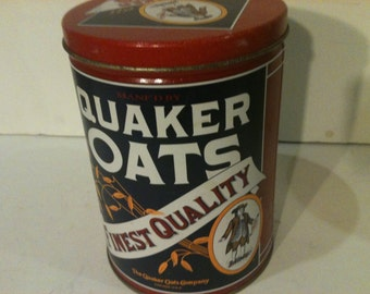 Vintage Quaker Oats Tin Cannister