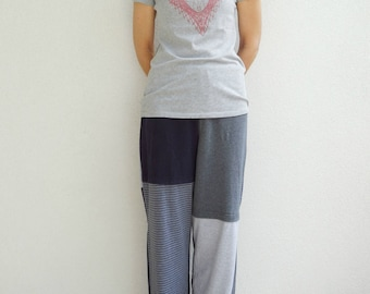 T Shirt Pants Womens Mens Clothing Unisex Small Medium Comfortable Loungewear Cotton Soft Handmade Gift for Him Her ohzie